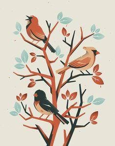 Bird Illustrations on Behance