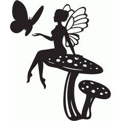 Silhouette Design Store - View Design #67878: mushroom fairy