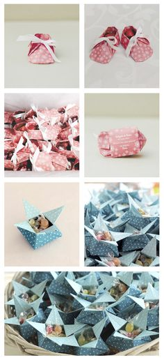 Origami baptism gifts.