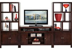 picture of Ryder Espresso 3 Pc Door Pier Wall Unit from Wall Units Furniture