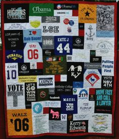 Political Quilt made by Too Cool T-shirt Quilts in Clearwater, Florida