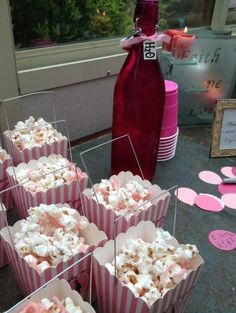 Pink candied popcorn recipe