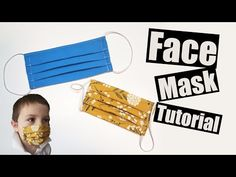 Donate to help support! Welcome to the Facemask tutorial, this facemask is great for illness (when protecting others from large particles) , renovating, protecting from large dust particles. **i know this tutorial sparks rage and moronic behaviour Face Masks For Kids, Easy Face Masks, Diy Face Mask, Sewing Hacks, Sewing Tutorials, Sewing Projects, Sewing Tips, Sewing Ideas, Craft Projects