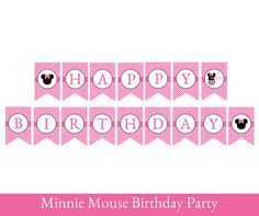 Minnie Mouse Birthday Banner Minnie Mouse par SugarPickleParty