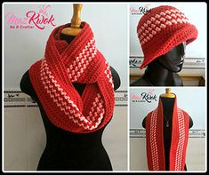 Ravelry: Berry Swirl Hat and Scarf pattern by Maz Kwok