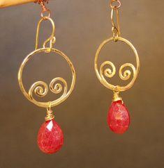 Nouveau 141 Hammered swirl shape earrings.  Stunning!