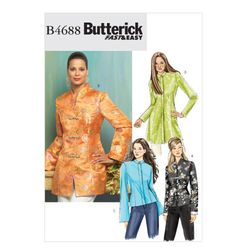 Butterick 4688 Misses'/Misses' Petite Jacket Plus Size Sewing Patterns, Coat Pattern Sewing, Modern Sewing Patterns, Jacket Pattern, Vintage Patterns, Sew Pattern, Clothes Patterns, Dress Patterns, Vintage Modern