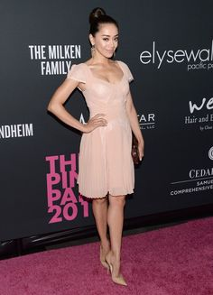 clothing ideas fashion Aimee Garcia: Pink Cocktail Dress with Cap Sleeves and Pleated Skirt Sexy Dresses, Cheap Party Dresses, Elegant Dresses, Pretty Dresses, Sandra Bullock, Rosa Cocktails, Ballerina, Latest Fashion Dresses, Latest Dress