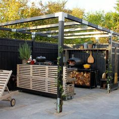 I dag i Jyllands-Postens tillæg Bolig kan du se min terrasse Outdoor Rooms, Outdoor Gardens, Outdoor Living, Outdoor Decor, Pergola Patio, Backyard, Fence Landscaping, Rooftop Terrace, Interior Exterior