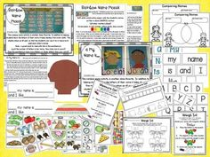 Literacy and Math Fun With Names! This is a resource full of fun, engaging name activities to do during the school year. Over 120 pages of activities. Full color pictures of examples, patterns, directions and adorable book covers for class made books.