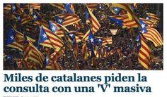 La V de la Diada, als mitjans espanyols - vilaweb.cat, 11.09.2014. La Diada també ha tingut ressò en els mitjans espanyols. En les edicions digitals, tots els diaris, canals i emissores han destacat la multitudinària V que s'ha format a la Gran Via i la Diagonal de Barcelona.