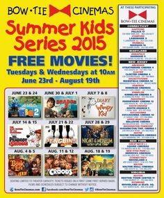 schedule movieland free kids movies 2015