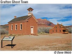 Grafton Ghost Town - We took the youngest and the middle sons out there one day. It was so beautiful, I found a desert rose just lying on the ground. Added it to my memory jar. Great Places, Beautiful Places, Places To Visit, St George Utah, Saint George, Zion National Park, National Parks, Snow Canyon State Park, Abandoned Churches