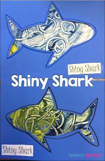 14 Great Ideas for Shark Week in Preschool Speech Therapy www.speechsproutstherapy.com #speechtherapy #kindergarten #preschool