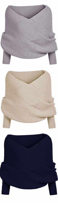Wrap Knit Sweater ❤︎