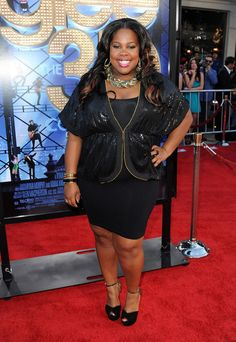 Amber Riley in Sam Edelman shoes