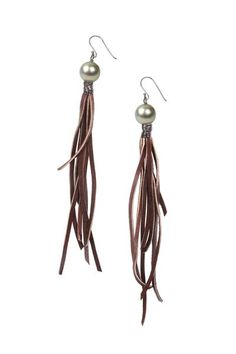 Tassel Earrings - Hottest Designer Pearl and Leather Jewelry | VINCENT PEACH …