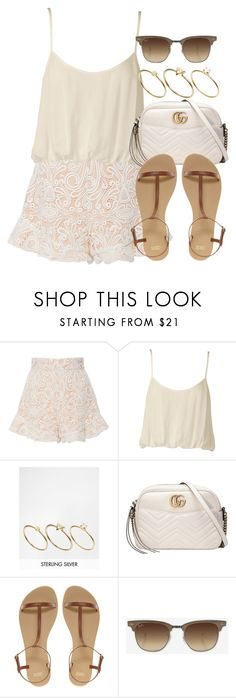 """""""Untitled #12893"""" by vany-alvarado ❤ liked on Polyvore featuring Tome, Nookie, ASOS, Gucci and Ray-Ban"""