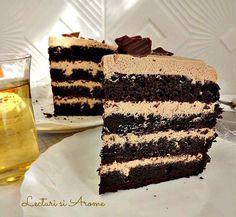 Tort cu ciocolata si portocale - Lecturi si Arome Delicious Chocolate, Chocolate Desserts, Romanian Food, Tiramisu, Cookies, Ethnic Recipes, Yum Yum, Pie, Crack Crackers