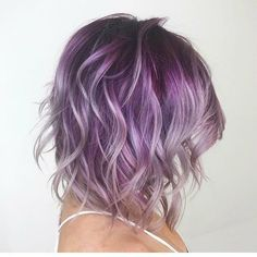 Image result for purple medium length hair