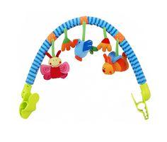 Pałąk z pluszowymi zabawkami do fotelika, leżaczka, wózka czy krzesełka.  #supermisiopl