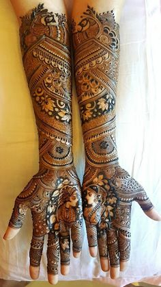 Bridal mehndi designs for every kind of bride Arabic Bridal Mehndi Designs, Wedding Henna Designs, Peacock Mehndi Designs, Full Mehndi Designs, Engagement Mehndi Designs, Indian Mehndi Designs, Legs Mehndi Design, Mehndi Design Photos, Henna Tatoos