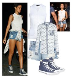 """""""Rihanna"""" by triana2525 ❤ liked on Polyvore featuring Pull&Bear and Converse"""
