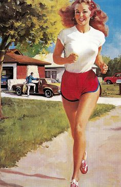 Gil Elvgren - This was the last commercial painting that he completed - it was for NAPA.