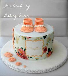 romantic baby girl cake