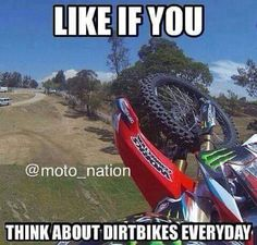 It takes only one trip on the incorrect bike seat to show irrefutably that a great bike seat is critical to routine bike riding. Motocross Funny, Motocross Quotes, Dirt Bike Quotes, Motocross Love, Biker Quotes, Motocross Bikes, Triumph Motorcycles, Custom Motorcycles, Bobbers