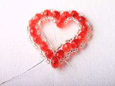 Návod na valentýnské srdce z korálků - 31 Crochet Earrings, Jewelry, Fimo, Jewlery, Jewerly, Schmuck, Jewels, Jewelery, Fine Jewelry