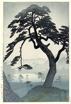 Shiro Kasamatsu - Pin sous la pluie, Kinokunizaka, in Tokyo, 1938.