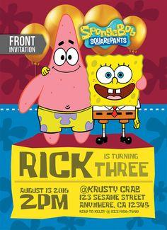 Spongebob Invitation Spongebob Birthday by TemplateMansion on Etsy