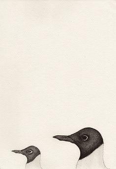 Chroicocephalus ridibundus (2016) Pen & Watercolour with gloss finish 210mm x 297mm by Anna Vialle Print £30.00