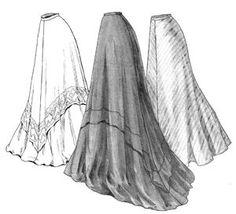 Truly Victorian TVE22 1905 Circular Skirt Pattern Edwardian Multi Size Sass | eBay