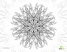 Gentledance, Dicebird.com free Adult printable coloring pages, mandalas, doodles, flowers, animals, for mental therapy and stress relief.