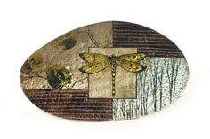 """Crystal and Glass : Dragonfly Plate 16"""""""