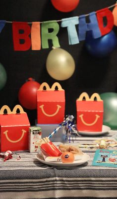 McDonald's Happy Meals ® make a birthday party extra special; Cuties ® are a sweet bonus!
