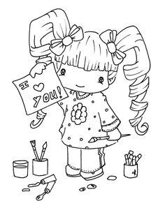 niña, amor, pintura