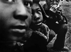 William Klein - Kids and Harmonica, Harlem, New York 1954