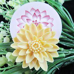 Et Hul Deep Flower Silicone Mold Fondant Forme Sugar Craft Værktøj Resin blomster Mould til kager – DKK kr. 35