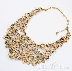 Golden, Necklace  , $24.99, Fashion Golden  Alloy Lady's Necklace
