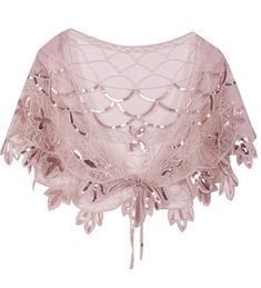 Women's Shawl Beaded Evening Wraps Flapper Bolero flapper beaded shawl, Pink / One Size Unique Dresses, Vintage Dresses, Shawls For Evening Dresses, Moda Art Deco, Wedding Wraps, Pashmina Shawl, Dress Gloves, Knitted Gloves, Ladies Party