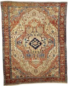 Lot 4135, A SERAPI CARPET, Northwest Persia size approximately 8ft. 11in. x 11ft. 2in. Bonhams Fine Oriental rugs & Carpets 20 October 2014