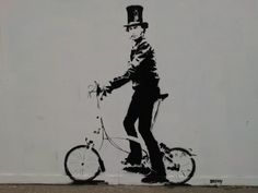 Bike-Street-Art: Brunel on a Brompton