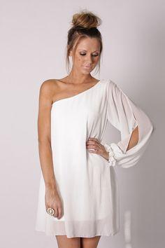 crisp white sheer dress