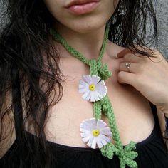 Shasta Daisy Scarflette Handmade Eco Friendly