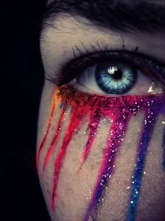 When I cry, I wish I cried colors.  It would make life so much more interesting.  Mood Tears.