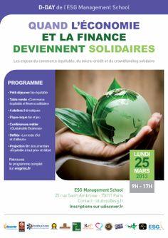 25 mars 2013 : D-Day de l'école de commerce ESG Management School sur les enjeux du commerce équitable, du micro-crédit et du #crowdfunding solidaire - Esgms.fr #solidaire #économie #ESGMS