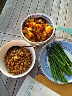 + cauliflower potato curry